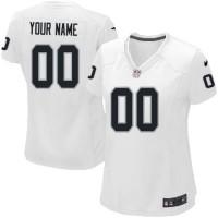 Nike Oakland Raiders Customized White Stitched Elite Women's NFL Jersey