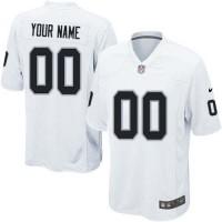 Nike Oakland Raiders Customized White Stitched Elite Youth NFL Jersey