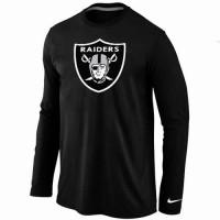 Nike Oakland Raiders Logo Long Sleeve T-Shirt Black