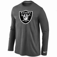 Nike Oakland Raiders Logo Long Sleeve T-Shirt Dark Grey