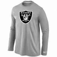 Nike Oakland Raiders Logo Long Sleeve T-Shirt Grey