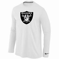 Nike Oakland Raiders Logo Long Sleeve T-Shirt White