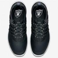Nike Oakland Raiders London Olympics Black Shoes-1