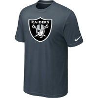 Nike Oakland Raiders Sideline Legend Authentic Logo Dri-FIT NFL T-Shirt Crow Grey