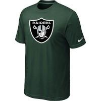 Nike Oakland Raiders Sideline Legend Authentic Logo Dri-FIT NFL T-Shirt Dark Green