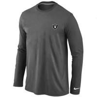 Nike Oakland Raiders Sideline Legend Authentic Logo Long Sleeve T-Shirt Dark Grey