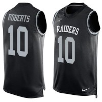 Nike Raiders #10 Seth Roberts Black Team Color Men's Stitched NFL Limited Tank Top Jersey