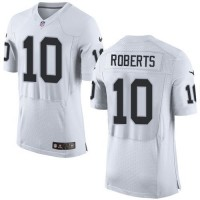 Nike Raiders #10 Seth Roberts White Men's Stitched NFL New Elite Jersey