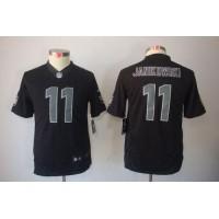 Nike Raiders #11 Sebastian Janikowski Black Impact Youth Stitched NFL Limited Jersey