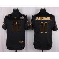 Nike Raiders #11 Sebastian Janikowski Black Men's Stitched NFL Elite Pro Line Gold Collection Jersey