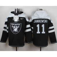 Nike Raiders #11 Sebastian Janikowski Black Player Pullover NFL Hoodie