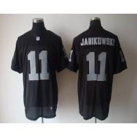 Nike Raiders #11 Sebastian Janikowski Black Team Color Men's Stitched NFL Elite Jersey