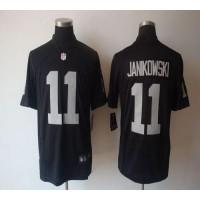 Nike Raiders #11 Sebastian Janikowski Black Team Color Men's Stitched NFL Game Jersey