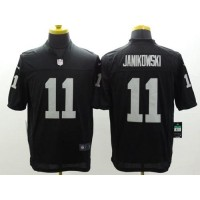 Nike Raiders #11 Sebastian Janikowski Black Team Color Men's Stitched NFL Limited Jersey