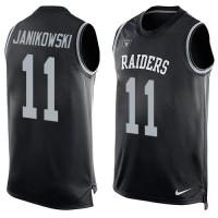 Nike Raiders #11 Sebastian Janikowski Black Team Color Men's Stitched NFL Limited Tank Top Jersey