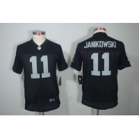 Nike Raiders #11 Sebastian Janikowski Black Team Color Youth Stitched NFL Limited Jersey