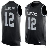 Nike Raiders #12 Kenny Stabler Black Team Color Men's Stitched NFL Limited Tank Top Jersey