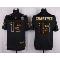 Nike Raiders #15 Michael Crabtree Black Men's Stitched NFL Elite Pro Line Gold Collection Jersey
