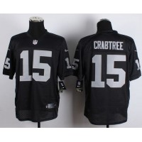 Nike Raiders #15 Michael Crabtree Black Team Color Men's Stitched NFL Elite Jersey