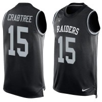 Nike Raiders #15 Michael Crabtree Black Team Color Men's Stitched NFL Limited Tank Top Jersey