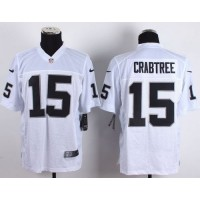 Nike Raiders #15 Michael Crabtree White Men's Stitched NFL Elite Jersey