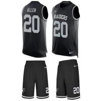 Nike Oakland Raiders #20 Nate Allen Black Team Color Men's Stitched NFL Limited Tank Top Suit Jersey