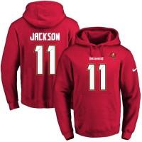 Nike Tampa Bay Buccaneers #11 DeSean Jackson Red Name & Number Pullover NFL Hoodie