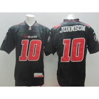 Ottawa Redblacks #10 Kierrie Johnson Black Stitched CFL Jersey