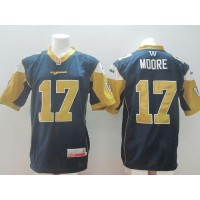 Winnipeg Blue Bombers #17 Nick Moore Navy Blue Stitched CFL Jersey