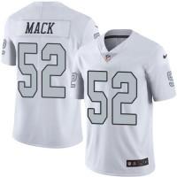 Youth Nike Oakland Raiders #52 Khalil Mack White Stitched NFL Limited Rush Jersey