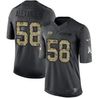Youth Nike Tampa Bay Buccaneers #58 Kwon Alexander Anthracite Stitched NFL Limited 2016 Salute to Service Jersey