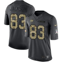 Youth Nike Tampa Bay Buccaneers #83 Vincent Jackson Anthracite Stitched NFL Limited 2016 Salute to Service Jersey