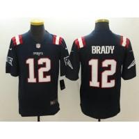 Men's New England Patriots #12 Tom Brady Nike Navy Color Rush Limited Jersey